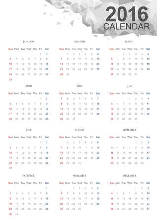 size: White Calendar 2016, Size A3 420mmx297mm