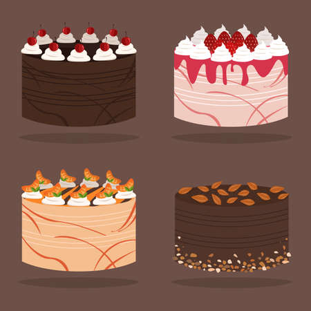 flavours: Cake Flavors Illustration