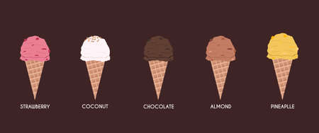 pack ice: Vector works, Ice cream flavor pack 1