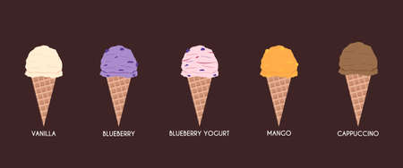 pack ice: Vector works, Ice cream flavor pack 2