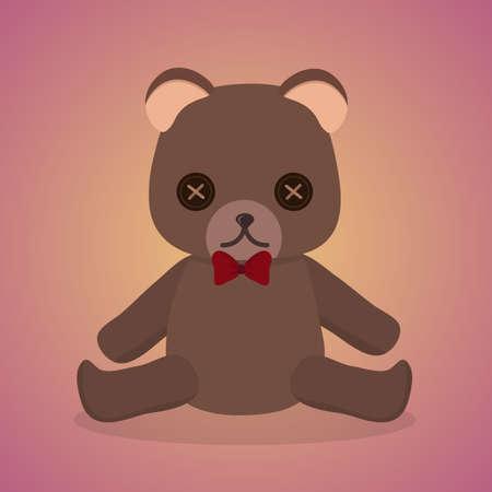 plush: Plush Bear Illustration