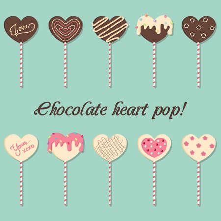 Chocolate heart pop