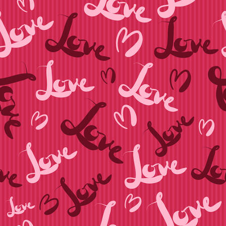 wrap wrapped: Red love seamless pattern Illustration