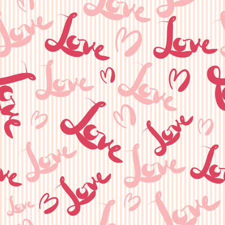 wrap wrapped: Pink love seamless pattern