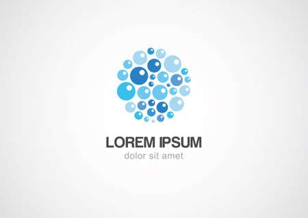Water bubbles logo template. Vector icon. Ilustrace