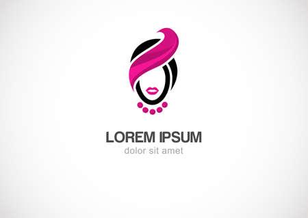 Woman  silhouette vector logo design template. Cosmetics, beauty, health & spa, fashion.