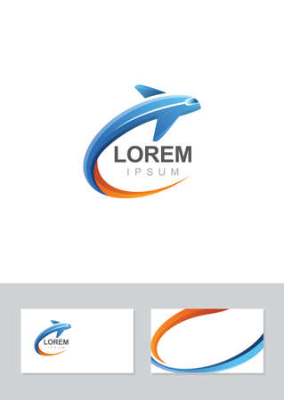 Airplane flight icon silhouette in vector format. Illustration