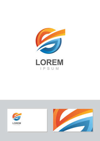Abstract icon design element with business card template. Vector