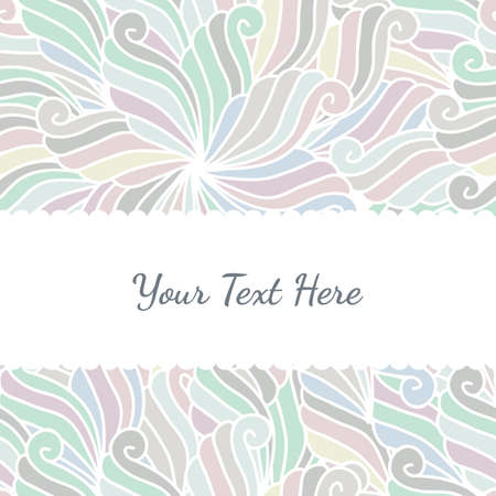 abstract hand-drawn waves pattern, seamless floral vector background. Stock Illustratie