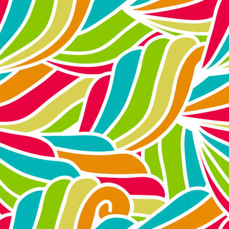 waves pattern: abstract hand-drawn waves pattern, seamless floral background. Illustration