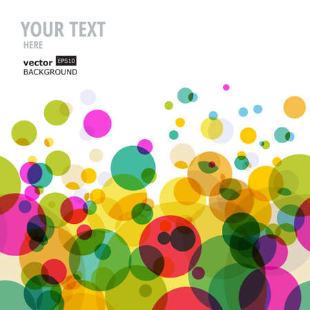 bright color: Abstract colorful circles pattern. Vector seamless background. Illustration
