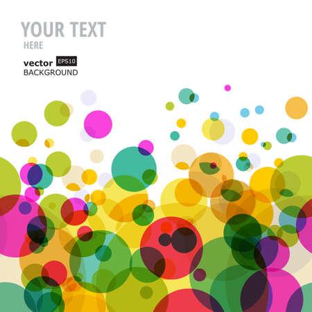 Astratti cerchi colorati modello. Vector sfondo trasparente. Archivio Fotografico - 32205051