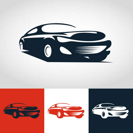 car wash: Abstract sport car illustration.