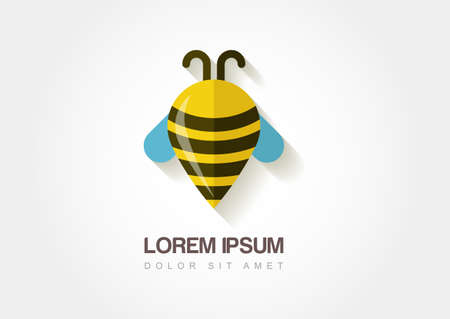 waypoint: Abstract bee symbol in flat style. Stylized waypoint.  Illustration