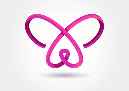 Abstract infinity butterfly symbol.
