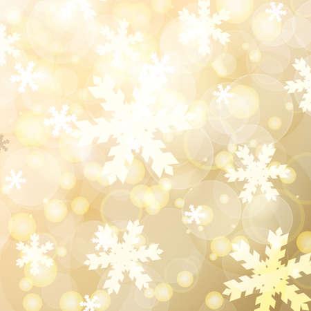 blurred lights: Abstract blurred lights and snowflakes background.