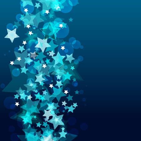 Shiny background with abstract glowing stars