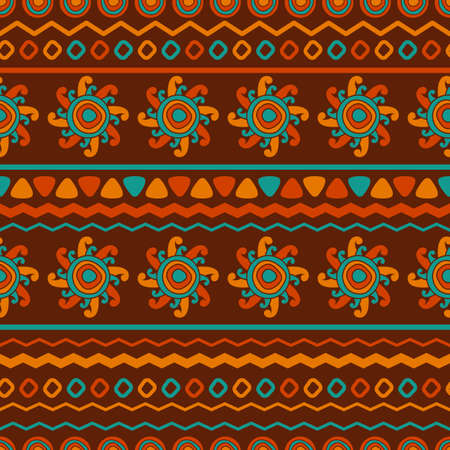 african culture: Abstract vector ethnic seamless pattern. Use for wallpaper, pattern fills, web page background.