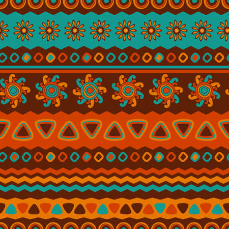 mexican background: Abstract vector ethnic seamless pattern. Use for wallpaper, pattern fills, web page background.