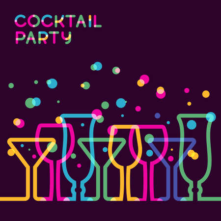 cocktail drinks: Abstract colorful cocktail glass background.