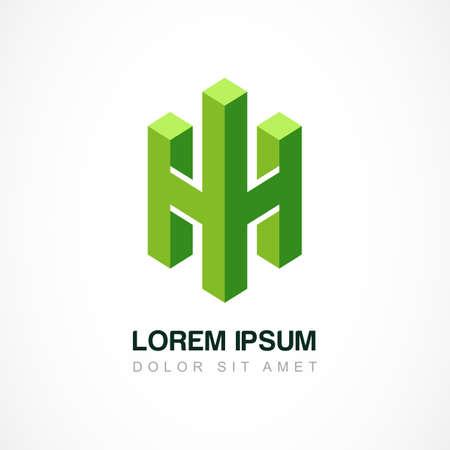 logotipo de construccion: La tecnolog�a de negocios logo vector plantilla. Concepto de dise�o abstracto para bienes ra�ces o compa��a de construcci�n.