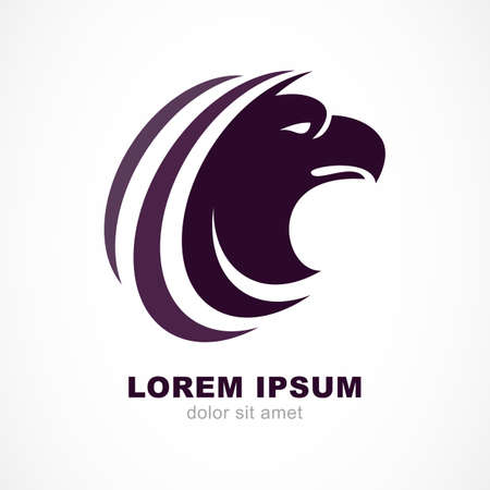 Vector logo design template. Bird head silhouette icon. Business and luxury emblem concept.