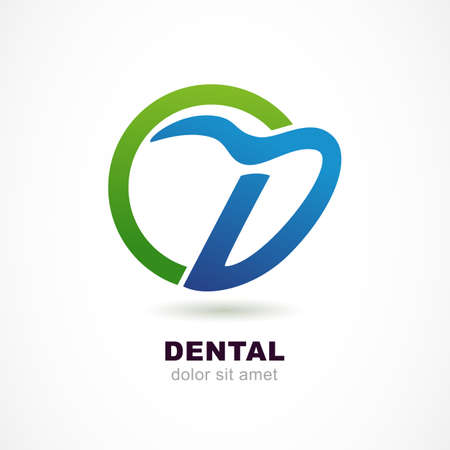 dental: Vector  design template. Tooth icon, abstract letter D symbol. Dental clinic, medicine concept.
