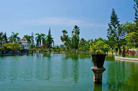 showplace: Ujung Water Palace showplace in Karangasem Regency. Bali, Indonesia.