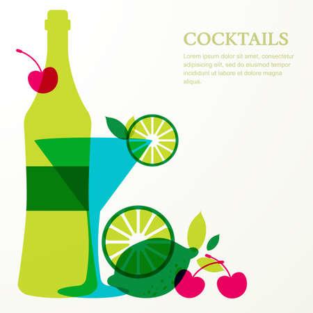 Abstrakt Logo-Design-Vorlage. Bunte Cocktails Kreissymbol. Konzept ...