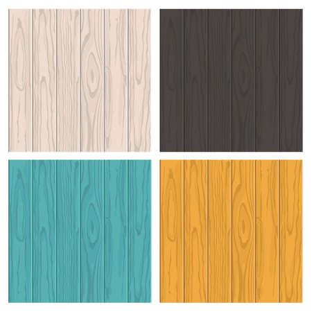 Set of vector wooden texture background with place for text. White beige, black, blue and yellow colors. Vettoriali