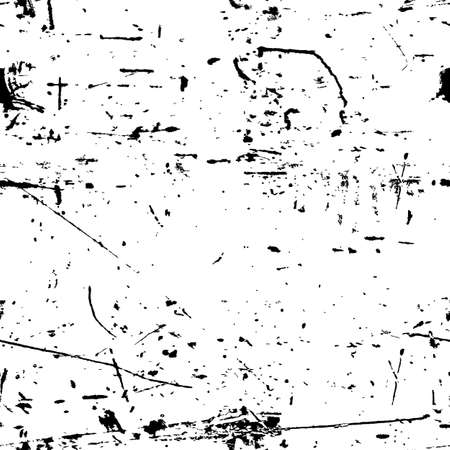 Abstract vector grunge seamless texture. Black and white dirty background.