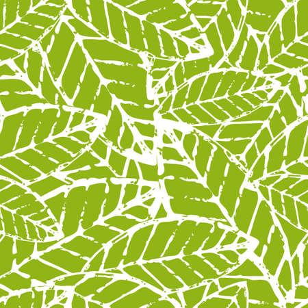 Aquarelle main feuille de vecteur tracé seamless. Abstract grunge texture de fond. Illustration nature organique.