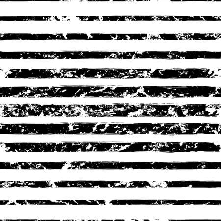 sized: Vector watercolor different sized stripes grunge seamless pattern. Hand drawn abstract black and white texture background. Illustration
