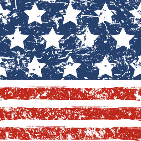 Happy 4th of July, USA Independence Day. Vector seamless grunge background. Abstract watercolor design concept for greeting card, banner, flyer, poster. Illustration