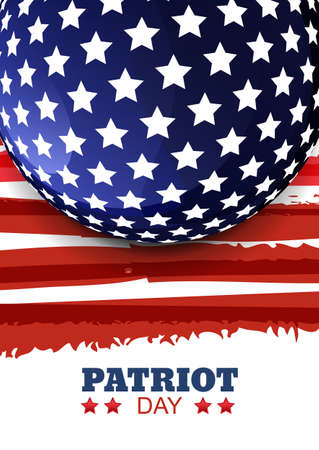 patriots: Patriot Day of USA or Independence Day. Vector abstract watercolor grunge vertical background with place for text. Design concept for greeting card, banner, flyer, poster.