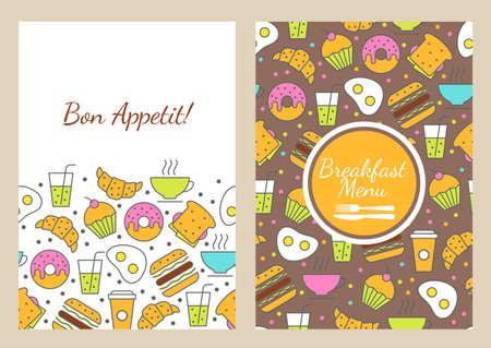 food banner: seamless food background Illustration