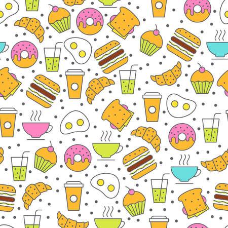 sandwich restaurant: Seamless food pattern