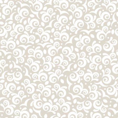 ベクターのシームレスなヴィンテージ花柄パターン。パステル ベージュ色の抽象的な装飾的な背景。