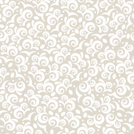 beige: Vector seamless vintage floral pattern. Pastel beige colors abstract decorative background. Illustration
