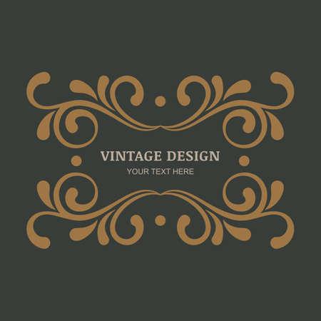Decoratieve vintage ornament achtergrond. Bloeit vintage frame. Ontwerp voor boutique, hotel, restaurant, bloemen winkel, juwelen, mode, heraldisch, embleem.