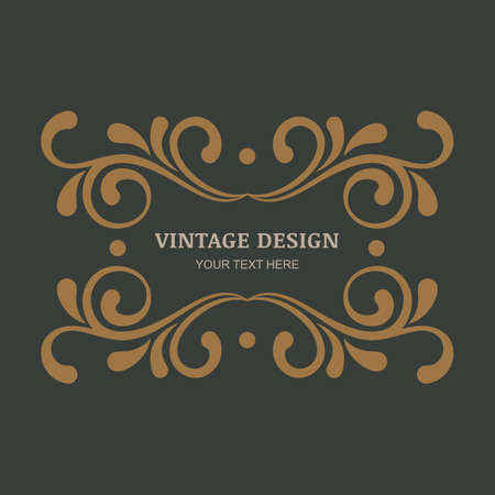 Abstract design: Decorative vintage ornament background. Flourishes vintage frame. Design for boutique, hotel, restaurant, floral shop, jewelry, fashion, heraldic, emblem.