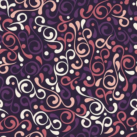 Vector seamless fiorire viola. sfondo decorativo Vintage. Floral design per la stampa di moda, sfondi, cartoline d'auguri, pacchetti vacanze e il confezionamento. Archivio Fotografico - 46403535