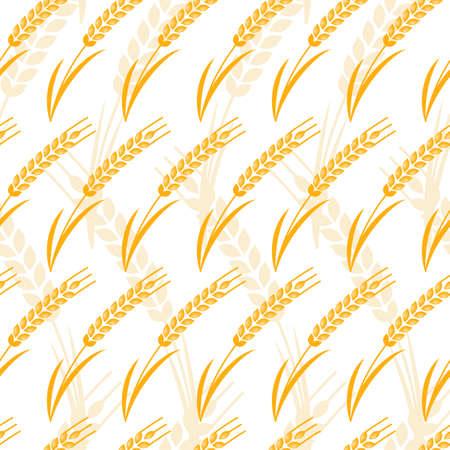 produits céréaliers: Vector seamless pattern avec l'oreille mûre or du blé. concept abstrait pour les produits biologiques, les céréales, la récolte, la boulangerie, de la nourriture saine. L'agriculture et l'agriculture de fond.