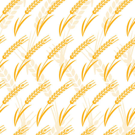 produits c�r�aliers: Vector seamless pattern with golden ripe ear of wheat. Abstract design concept for organic products, grain, harvest, bakery, healthy food. Farming and agriculture background.