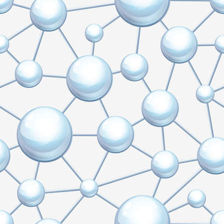 atomo: Estructura molecular patrón de vector transparente. Fondo abstracto. Concepto de diseño para la ciencia, ecología, biotecnología, industria química. Los átomos y las moléculas de ilustración.
