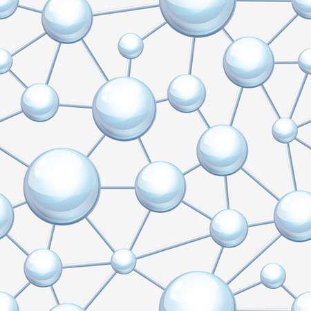 bombe atomique: Structure moléculaire de modèle vectoriel sans soudure. Abstract background. Le concept du design pour la science, l'écologie, la biotechnologie, l'industrie chimique. Atomes et molécules illustration.