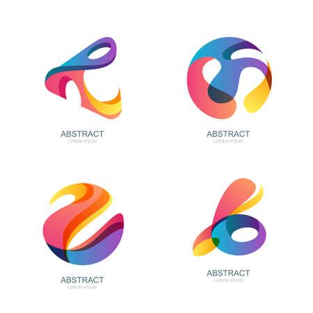 esfera: Conjunto de formas abstractas de moda, etiqueta, iconos. Vector de fondos modernos y elementos de diseño. Resumen de la esfera 3d.