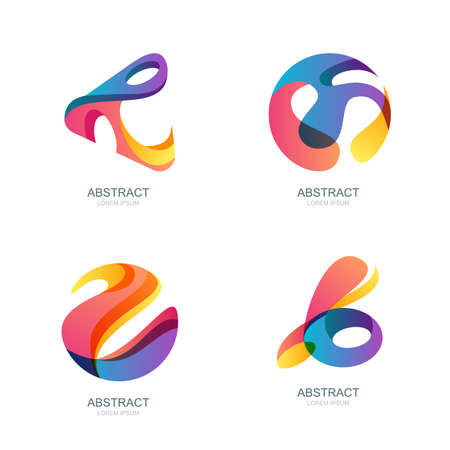 sphere: Set of abstract shapes for trendy , label, icons. Vector modern backgrounds and design elements. Abstract 3d sphere.