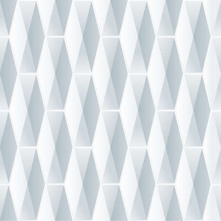 white tile: Seamless geometric 3d pattern. Abstract white background with polygonal tiles. Vector illustration.