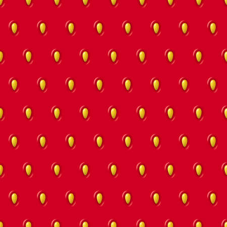 macro: Vector seamless strawberry texture. Red pattern with berry and seeds. Close-up of strawberry. Design concept for fresh farm food label, package, wrapping.